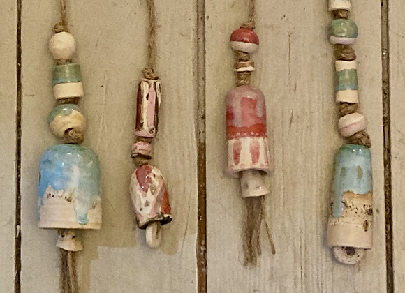 Earth Tone Ceramic Bells