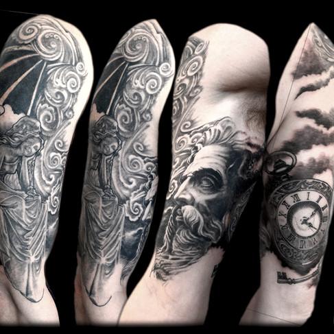 Half sleeve. Cover up in black 'n grey.