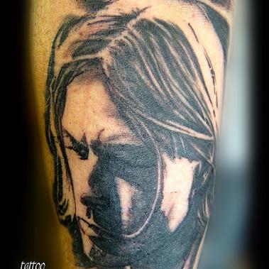 Portrait Kurt Cobain.