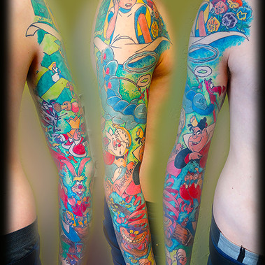 Alice. Full color sleeve.