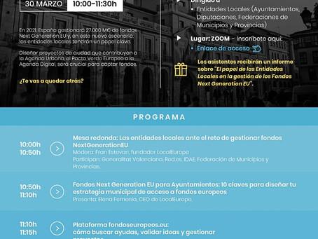 """webinar """"Next Generation EU para Entidades Locales"""""""