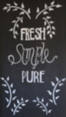 fresh simple pure