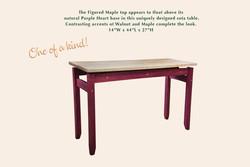 Purple Heart Sofa Table