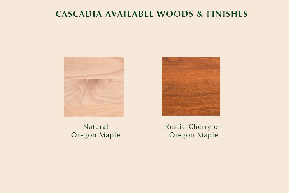 Cascadia Available Finishes