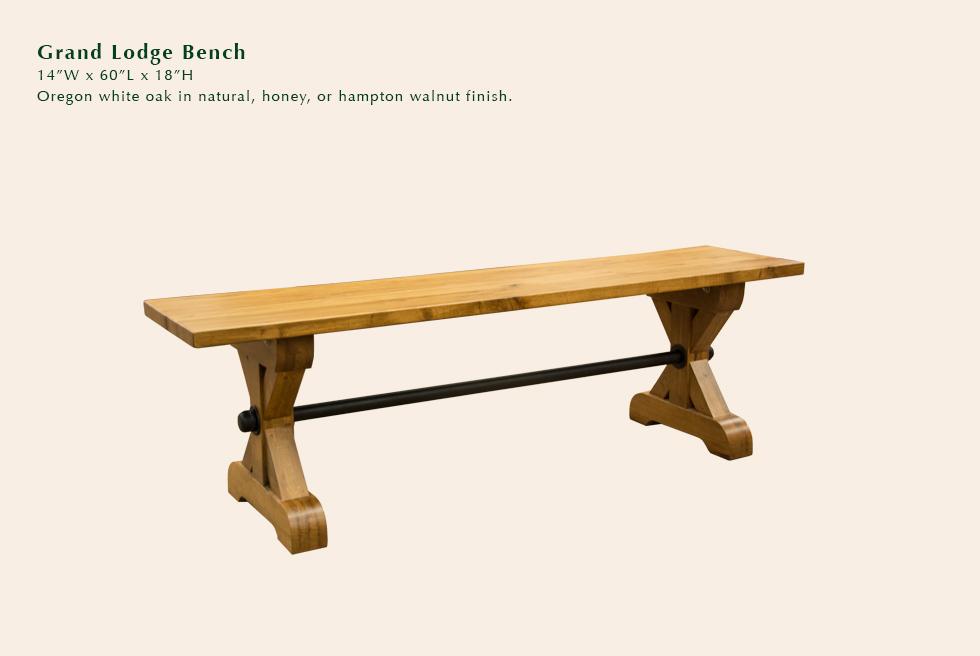 Grand Lodge bench