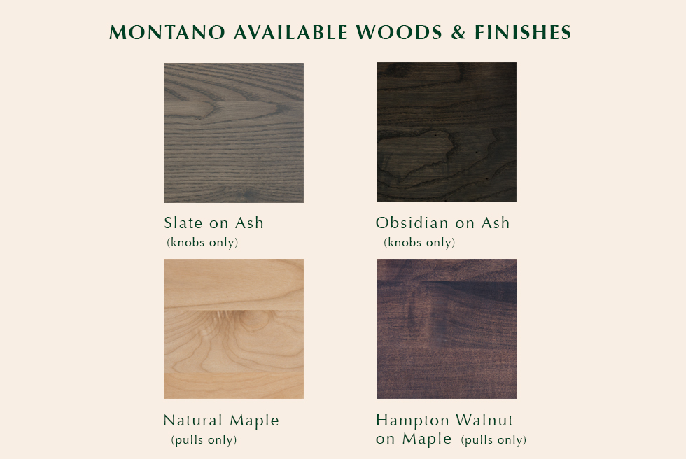 Montano available finishes