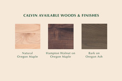 Calvin Available Finishes