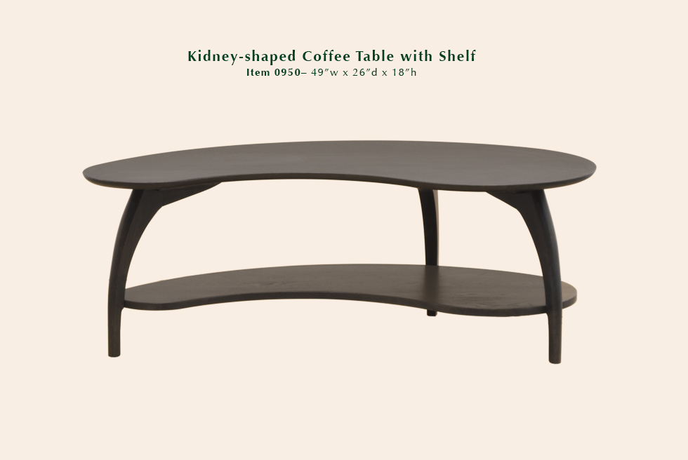0950 Tibro kidney shaped coffee table
