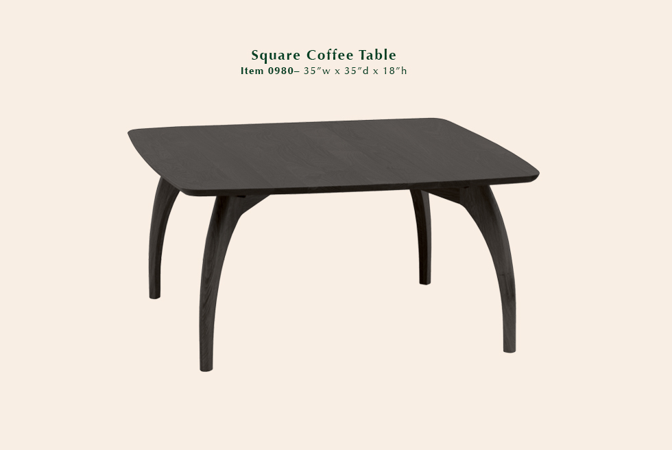 0980 Tibro square coffee table