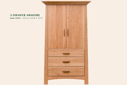 4543 Reflections 3dr armoire