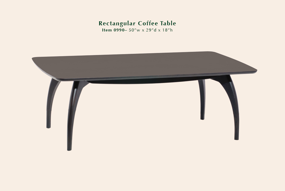 0990 Tibro rectangular coffee table