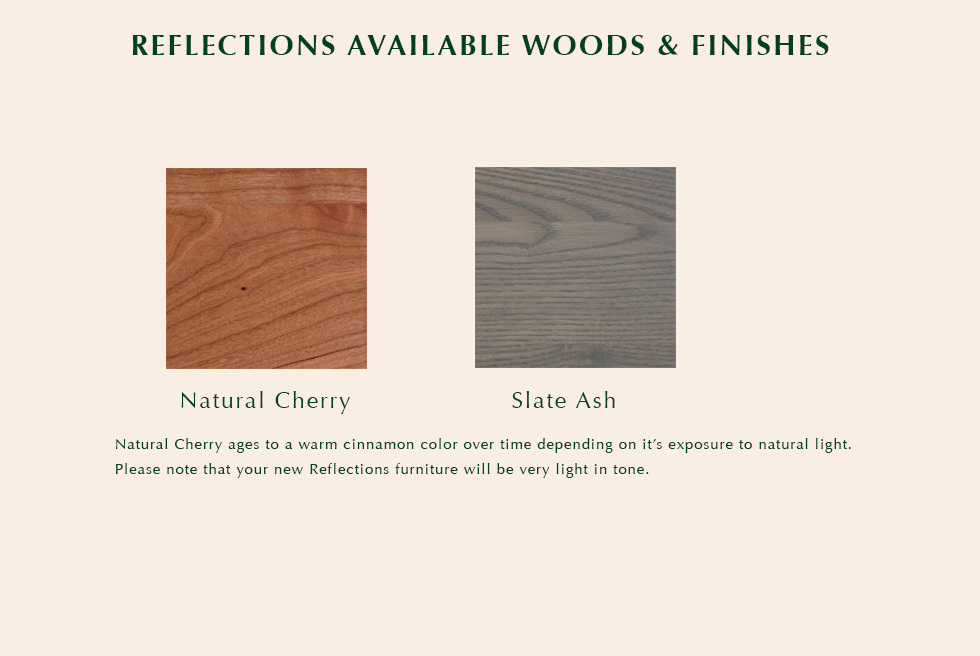 Reflections available finishes