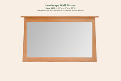 4538 Reflections landscape wall mirror