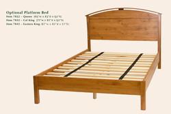 7022 Optional platform bed