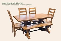 Grand Lodge trestle dining set