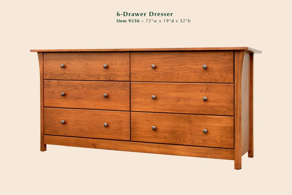 Cascadia 6 Drawer Dresser