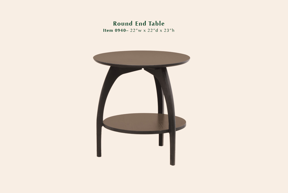 0940 Tibro round end table