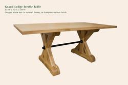 Grand Lodge trestle table
