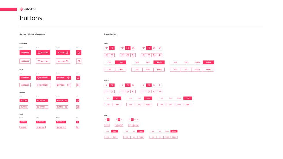 Rabbit Design System Buttons