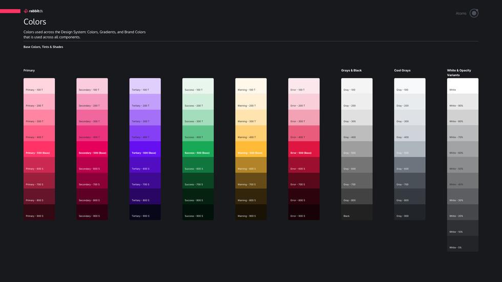 Rabbit Design System Colors
