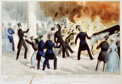 CANNON EXPLOSION USS PRINCETON, 1844