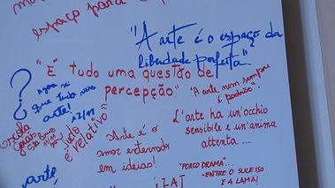 Registros deixados pelo público nos Espaços Dialogantes do Programa Educativo.