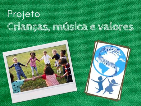 Projeto Crianças, música e valores