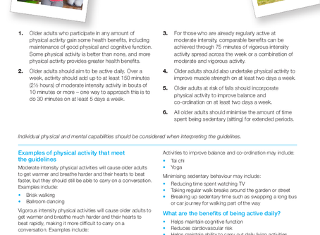 Fitness for Older Adults: part one