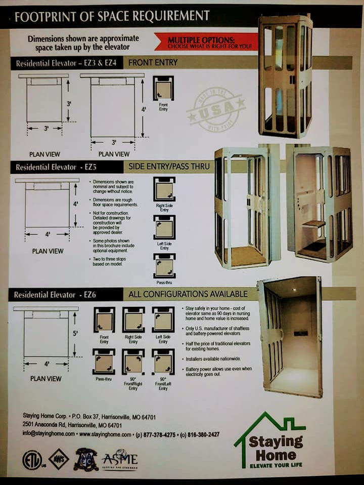 Design of the lift we are installing! This lift will give this inspirational Vet freedom in his home.