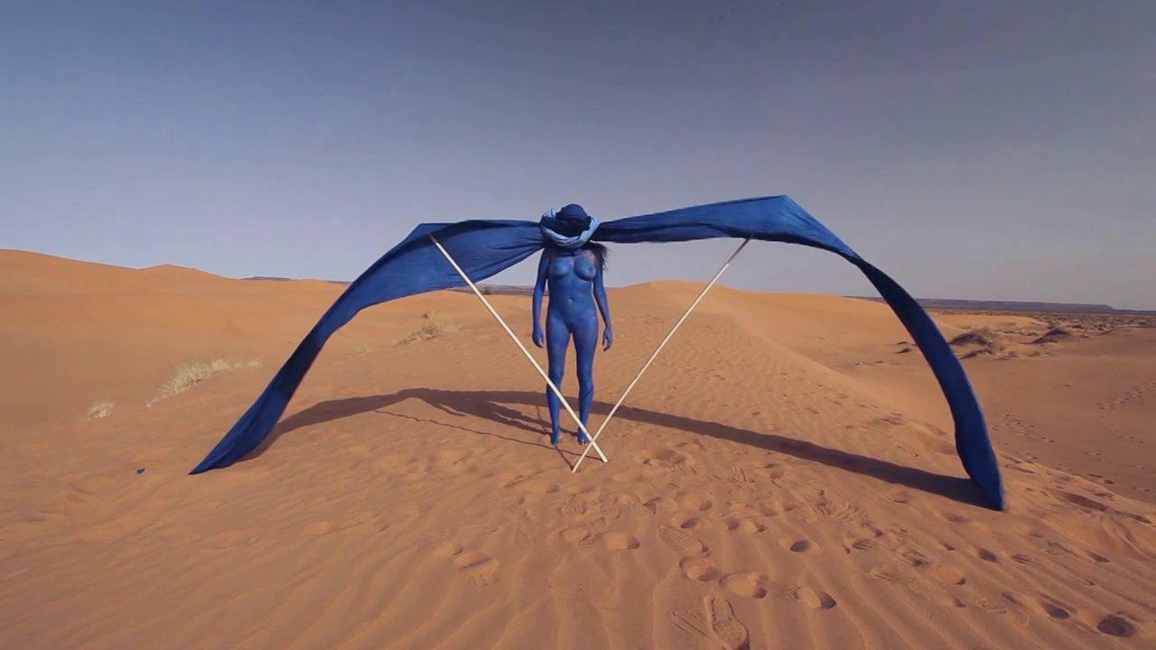 Nomad - Sahara 2014 - Photographie of performance - C-print - 180cm x 120cm - Edition of 5 + 2EA