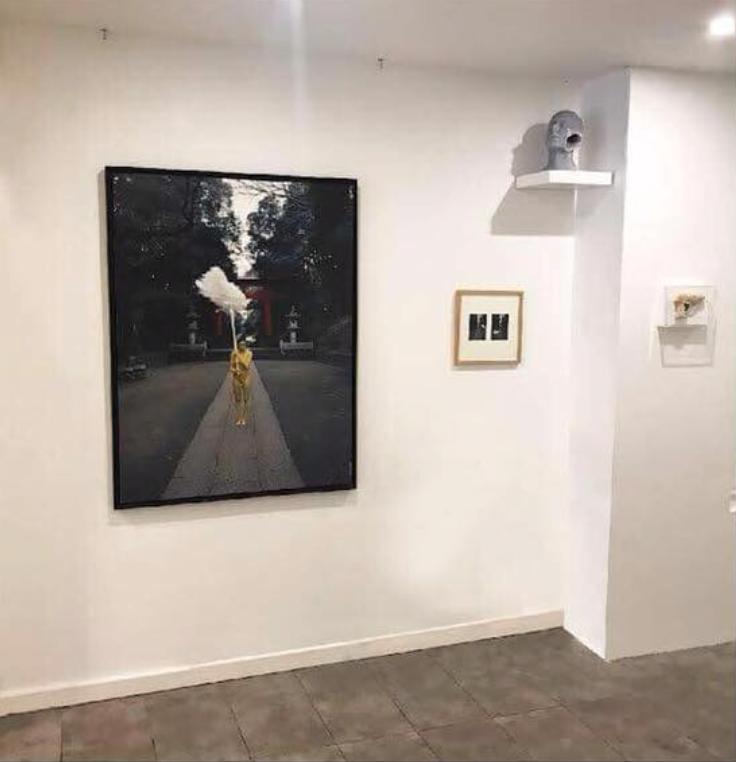 Shinto Action - Vue d'exposition à la Galerie Marguerite Milin