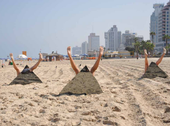 Action for Tel Aviv #1 - Israël 2010 - Photography of performance C-print - 105cm x 70cm - Edition of 5 + 1EA