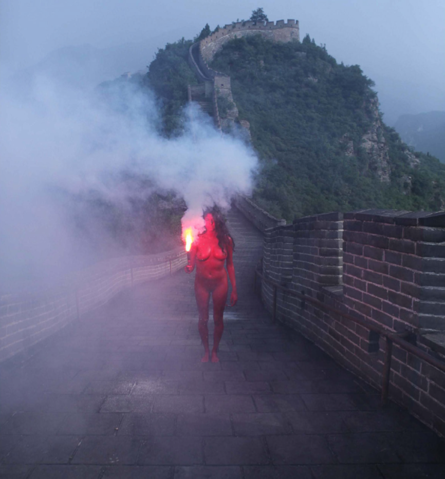 Action for Great Wall #1 - Photography of performance C-print - 93,5cm x 66cm - Edition of 5 + 1EA