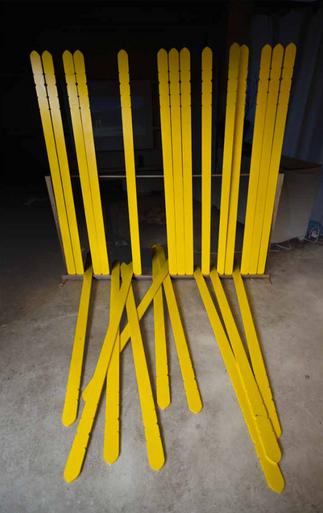 Sotobas - Installation bois et peinture - Performance Printing Sotobas - Japan 2012