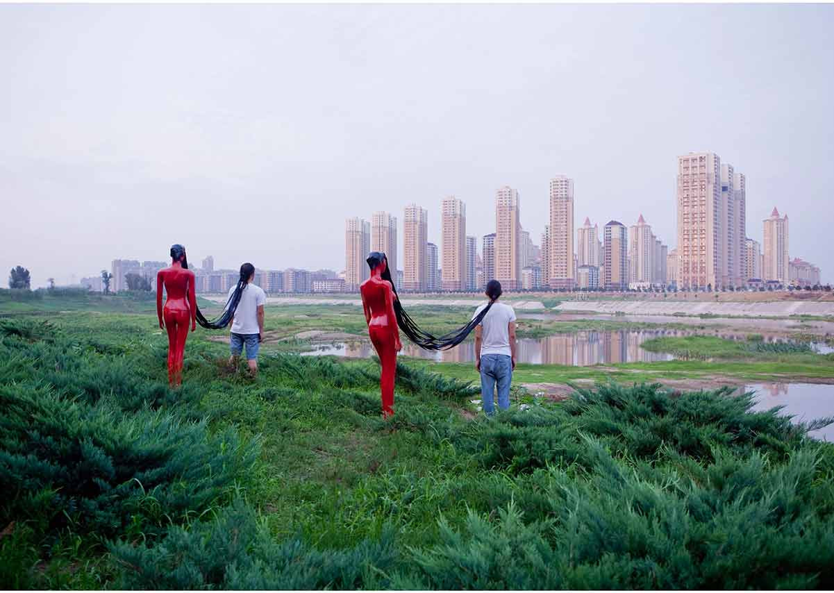 View on Tower #1 - China 2011 - Photography of performance C-print - 93,5cm x 66cm - Edition of 5 + 1EA
