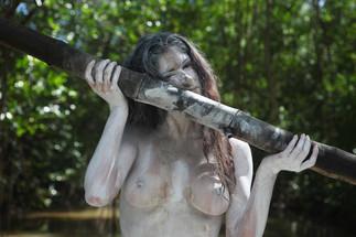 Action in the mangrove - Pool Art Fair - L'hôtel L'Impératrice - Martinique 2012