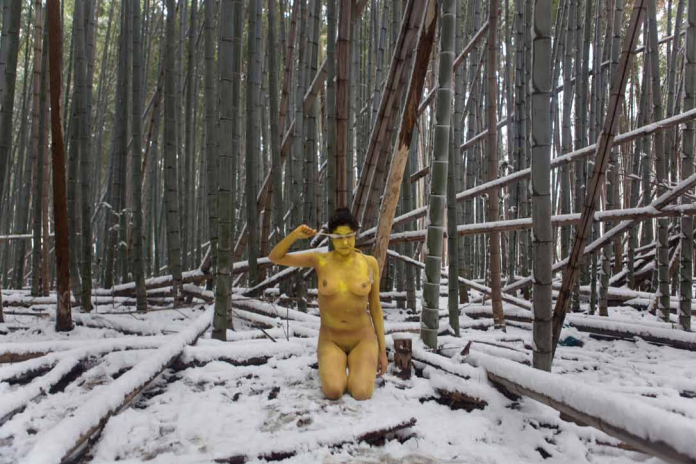 Action for Adashino Nenbutsu ji #2 - Japan 2012 - Photography of performance C-print - 99cm x 66cm - Edition of 5 + 1EA