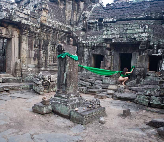 Action for Cambodia #2 - Cambodia 2013 - Photography of performance C-print - 112cm x 78,2cm - Edition of 5 + 1EA