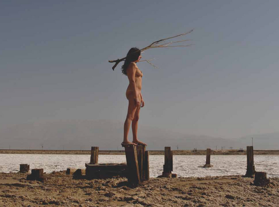 Action for Dead sea #1 - Israël 2010 - Photography of performance C-print - 30cm x 20cm - Edition of 5 + 1EA