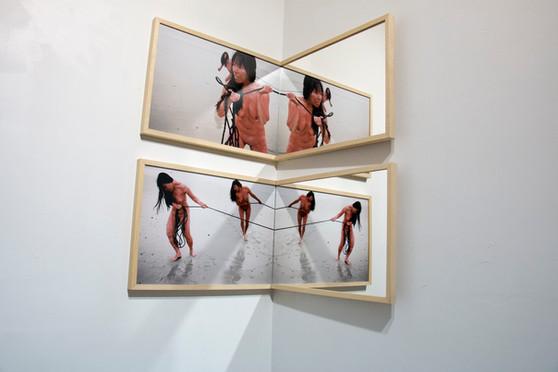 Sans titre - France 2017 - Diptych photographique - tirage argentique et miroir - 50cm x 50cm x 38,5cm - Edition 1/5 + 2EA