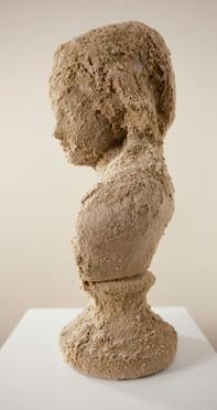 White Face Joséphine 2012 - Sculpture sand and plaster - 45cm x 25cm x 15cm - Reproduction of 3 + 1EA