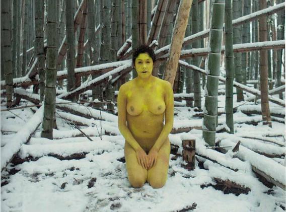 Action for Adashino Nenbutsu ji #1 - Japan 2012 - Photography of performance diptych C-print - 2x (102cm x 72cm) - Edition of 5 + 1EA