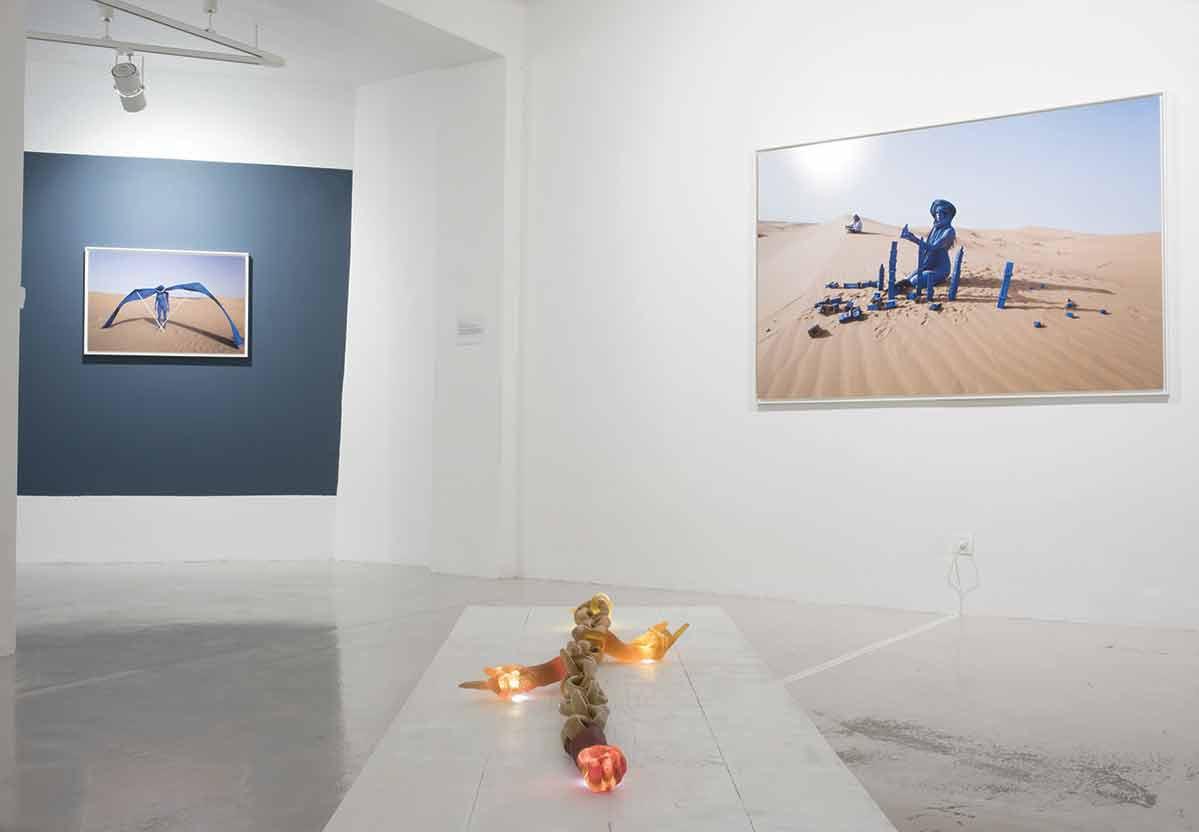 Nomad - Sahara 2014 - Photographie de performance - vue d'exposition