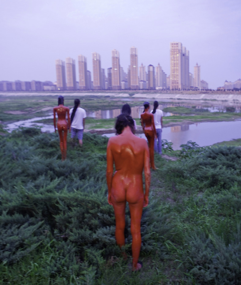 View on Tower #2 - China 2011 - Photography of performance C-print - 60cm x 40cm - Edition of 5 + 1EA