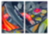 20.Midnight Garden 7 Diptych_Acrylic on