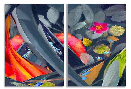 20.Midnight Garden 7 Diptych_Acrylic on