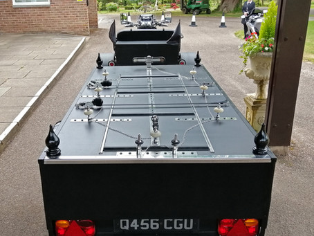 The Deck of Our Trike Hearse Bier