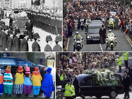 British non-state funerals that are particularly memorable to us over the past four decades