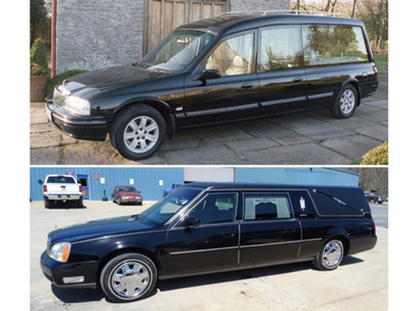 Should a coffin inside a hearse be visible or not?