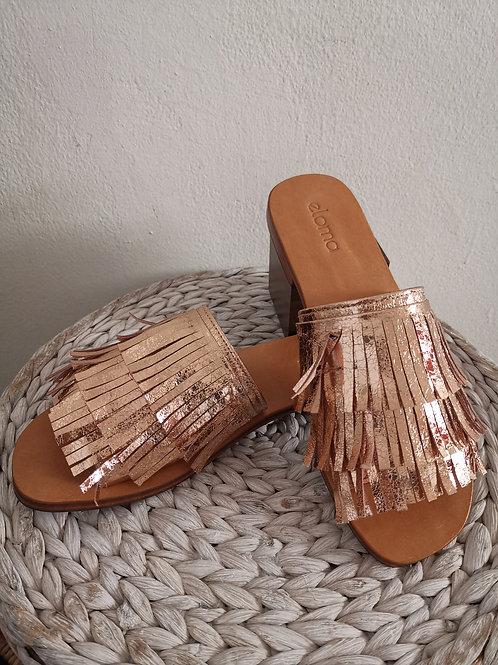 The Seminyak Sandal - Metallic Rose Gold